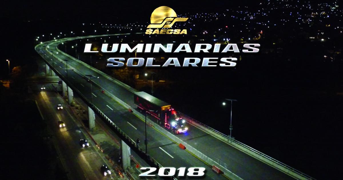 Luminarias Solares para alumbrado público en Guerrero